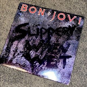 Bon Jovi Original 1986 Slippery When Wet Vinyl